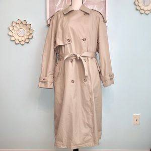 London Fog Towne Trench Coat Women Size 12P